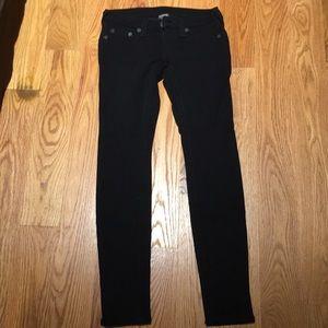 True Religion Stella black stretch jeans size 25